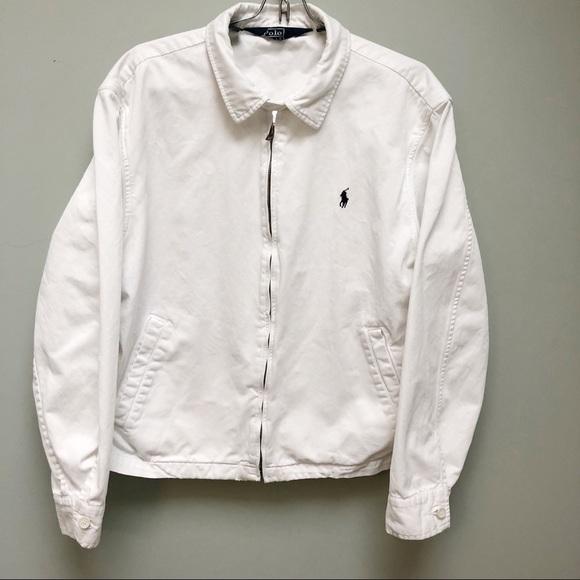 Jean Ralph Polo Up LaurenHp White Zip Jacket gbyY6fvI7m